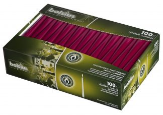 Box of 100 Wine Red Tapered Candles