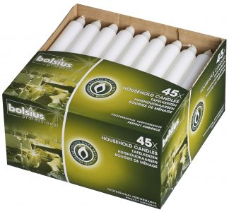 Box of 45 White Household Candles