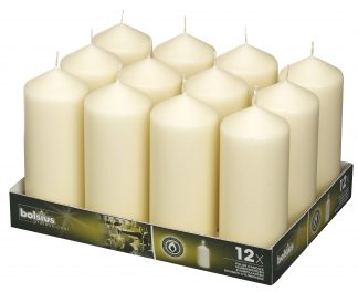 Tall Pillar Candles tray of 12