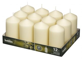 Pillar Candles tray of 12