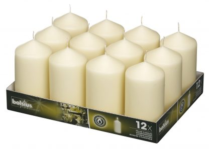 Pillar Candles tray of 12