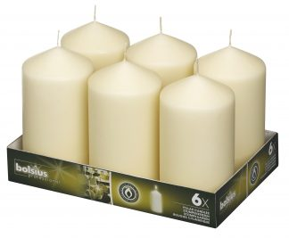 Pillar Candles tray of 6