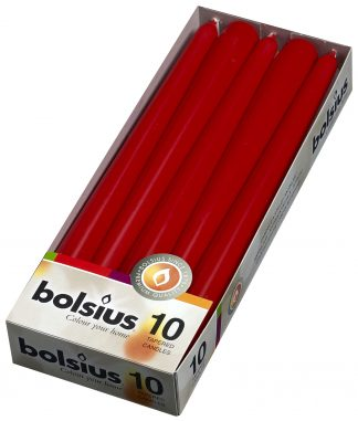red tapered candles 10 pack