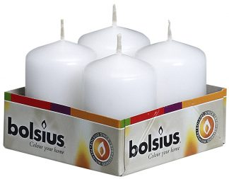 white pillar candle 4 pack