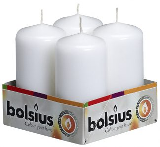 pillar candle 4 pack white