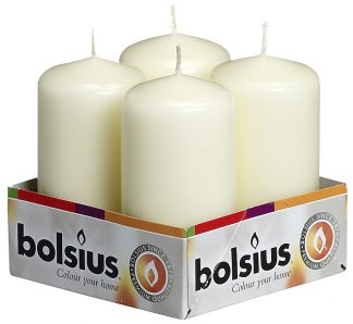 pillar candle 4 pack