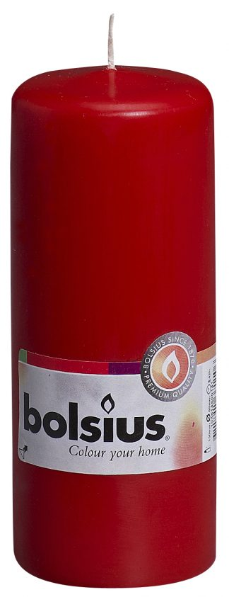 pillar candle red