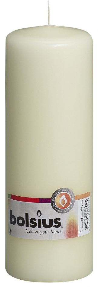 cream tall pillar candle