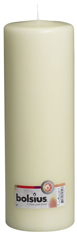 cream pillar candle tall