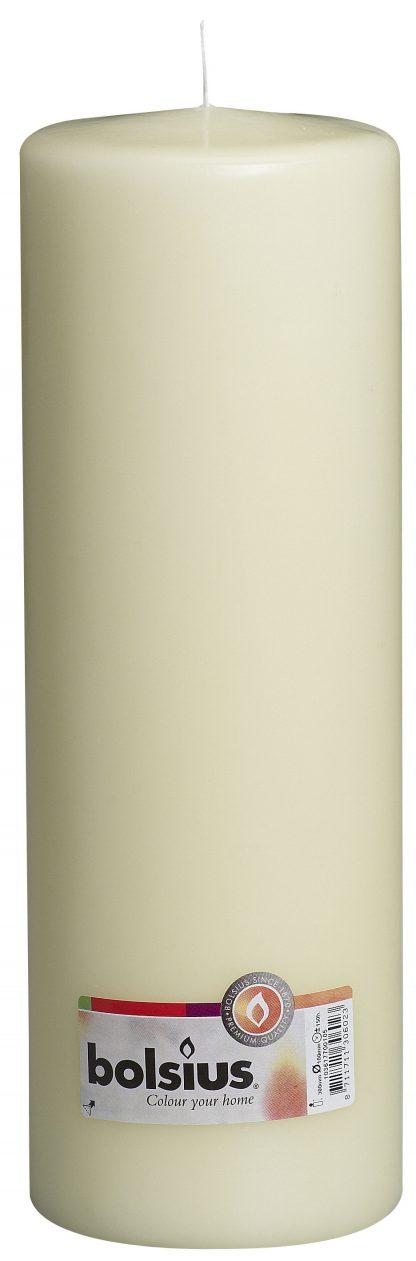 cream pillar candle tall