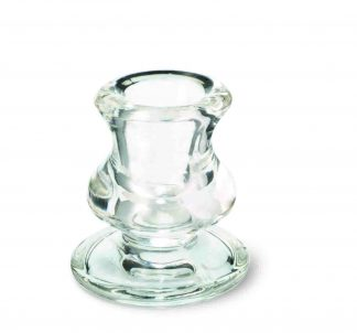 Clear Glass Single Taper Holder