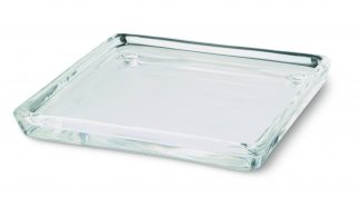 Clear Square Glass plate