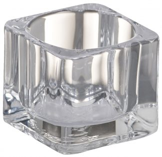 Clear Glass Square T-light Holder